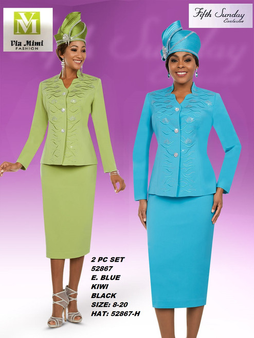 FIFTH SUNDAY #52867__ 3 PC SET  COLOR: E. BLUE , KIWI, BLACK  SIZE: 8-20  HAT: 52867-H  FOR MORE IMFORMATION AND PRICE PLEASE GIVE US A CALL   WE BEAT  ALL PRICES !!!!  VIA MIMI FASHION  1333 S. SANTEE ST.  LA,CA.90015  TEL: (213)748-MIMI (6464)  FAX: (213)749-MIMI (6464)  E-Mail: mimi@viamimifashion.com  http://viamimifashion.com  https://www.facebook.com/viamimifashion    https://www.instagram.com/viamimifashion  https://twitter.com/viamimifashion