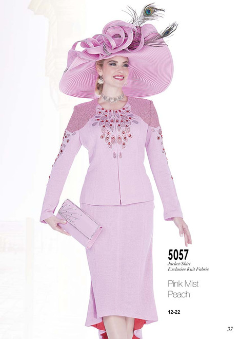 ELITE #5057__ 2 PC KNIT SUIT  COLOR:PINK MIST , PEACH  SIZE: 12-22  FOR MORE IMFORMATION AND PRICE PLEASE GIVE US A CALL   WE BEAT  ALL PRICES !!!!  VIA MIMI FASHION  1333 S. SANTEE ST.  LA,CA.90015  TEL: (213)748-MIMI (6464)  FAX: (213)749-MIMI (6464)  E-Mail: mimi@viamimifashion.com  http://viamimifashion.com  https://www.facebook.com/viamimifashion    https://www.instagram.com/viamimifashion  https://twitter.com/viamimifashion