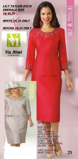 LILY TAYLOR #3219   WHITE  SIZE 18 AND MOCHA SIZE 24!!!  FOR MORE IMFORMATION AND PRICE PLEASE GIVE US A CALL   WE BEAT  ALL PRICES !!!!  VIA MIMI FASHION  1333 S. SANTEE ST.  LA,CA.90015  TEL: (213)748-MIMI (6464)  FAX: (213)749-MIMI (6464)  E-Mail: mimi@viamimifashion.com  http://viamimifashion.com  https://www.facebook.com/viamimifashion    https://www.instagram.com/viamimifashion  https://twitter.com/viamimifashion