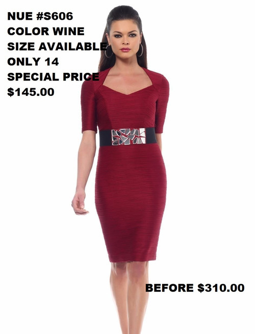 NUE BY SHANI #S606 WINE  SIZE 14 ONLY !!!  FOR MORE IMFORMATION AND PRICE PLEASE GIVE US A CALL   WE BEAT  ALL PRICES !!!!  VIA MIMI FASHION  1333 S. SANTEE ST.  LA,CA.90015  TEL: (213)748-MIMI (6464)  FAX: (213)749-MIMI (6464)  E-Mail: mimi@viamimifashion.com  http://viamimifashion.com  https://www.facebook.com/viamimifashion    https://www.instagram.com/viamimifashion  https://twitter.com/viamimifashion