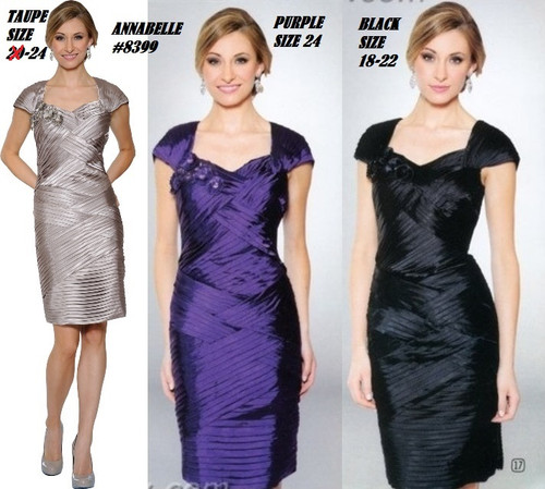 ANNABELLE #8399 TAUPE SIZE 24, PURPLE SIZE 24, BLACK SIZE 18,22 ONLY SPECIAL PRICE $179.00 !!!