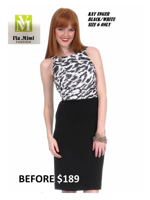 KAY UNGER BLACK/WHITE SIZE 6 ONLY SPECIAL PRICE $159.00 !!!