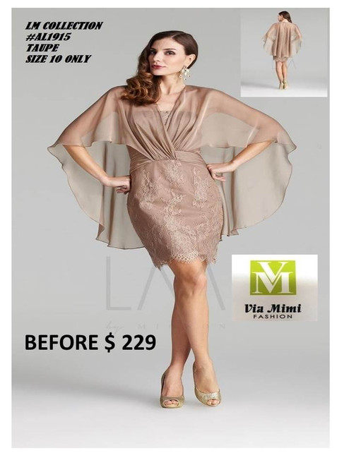 LM COLLECTION #AL1915  TAUOE SIZE 10 SPECIAL PRICE $199 !!!