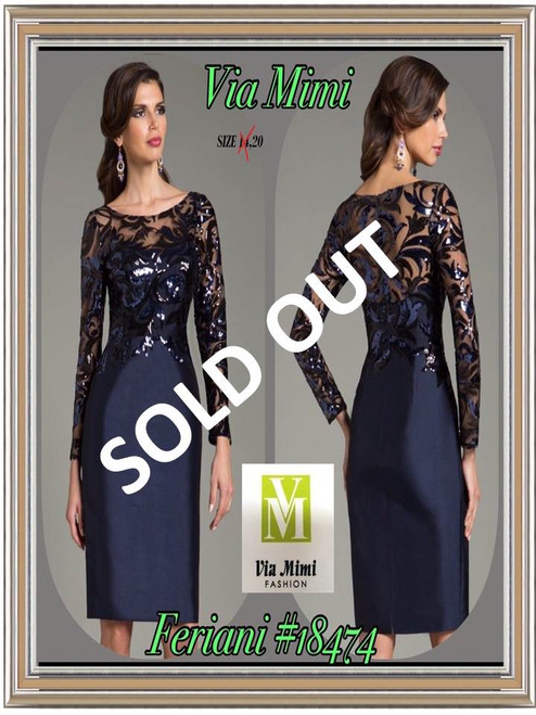 FERIANI #18474 NAVY SIZE 20 0NLY SPECIAL PRICE $229.00 !!!
