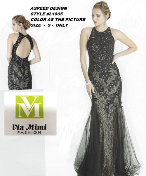 ASPEED DESIGN STYLE #L1865 BLACK/NUDE  SIZE S  SPECIAL PRICE $139.00!!!  FOR PRICE AND MORE IMFORMATION  PLEASE GIVE US A CALL   WE BEAT  ALL PRICES !!!!  VIA MIMI FASHION  1333 S. SANTEE ST.  LA,CA.90015  TEL: (213)748-MIMI (6464)  FAX: (213)749-MIMI (6464)  E-Mail: mimi@viamimifashion.com  http://viamimifashion.com  https://www.facebook.com/viamimifashion    https://www.instagram.com/viamimifashion  https://twitter.com/viamimifashion