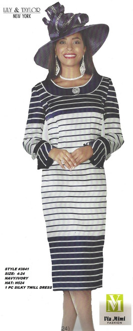 LILY TAYLOR STYLE #3841 /1 PC SILKY TWILL DRESS !!  COLOR: NAVY/IVORY (H524)  SIZE: 4-24  FOR PRICE AND MORE IMFORMATION  PLEASE GIVE US A CALL   WE BEAT  ALL PRICES !!!!  VIA MIMI FASHION  1333 S. SANTEE ST.  LA,CA.90015  TEL: (213)748-MIMI (6464)  FAX: (213)749-MIMI (6464)  E-Mail: mimi@viamimifashion.com  http://viamimifashion.com  https://www.facebook.com/viamimifashion    https://www.instagram.com/viamimifashion  https://twitter.com/viamimifashion