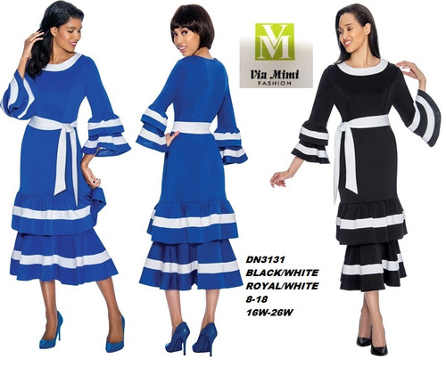 DRESSES BY NUBIANO  STYLE #DN3131  COLOR: BLACK/WHITE ,  ROYAL/WHITE  SIZE: 8-18       16W-26W  FOR PRICE AND MORE IMFORMATION  PLEASE GIVE US A CALL   WE BEAT  ALL PRICES !!!!  VIA MIMI FASHION  1333 S. SANTEE ST.  LA,CA.90015  TEL: (213)748-MIMI (6464)  FAX: (213)749-MIMI (6464)  E-Mail: mimi@viamimifashion.com  http://viamimifashion.com  https://www.facebook.com/viamimifashion    https://www.instagram.com/viamimifashion  https://twitter.com/viamimifashion
