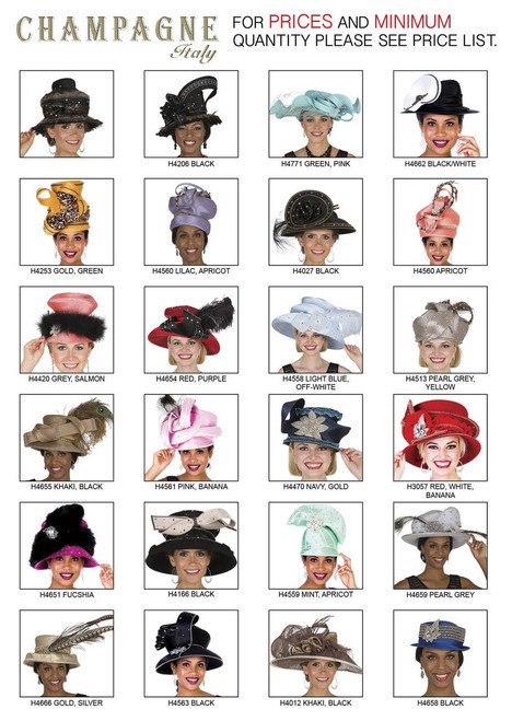 CHAMPAGNE ITALY HATS  FOR PRICE AND MORE IMFORMATION  PLEASE GIVE US A CALL   WE BEAT  ALL PRICES !!!!  VIA MIMI FASHION  1333 S. SANTEE ST.  LA,CA.90015  TEL: (213)748-MIMI (6464)  FAX: (213)749-MIMI (6464)  E-Mail: mimi@viamimifashion.com  http://viamimifashion.com  https://www.facebook.com/viamimifashion    https://www.instagram.com/viamimifashion  https://twitter.com/viamimifashion