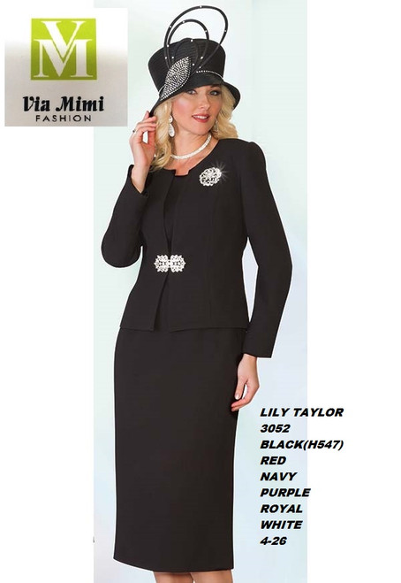 LILY & TAYLOR STYLE #3052  COLOR: BLACK , RED, NAVY, PURPLE, ROYAL, WHITE   SIZE : 4-26  3 PC CREPE SUIT   FOR PRICE AND MORE IMFORMATION  PLEASE GIVE US A CALLL    WE BEAT  ALL PRICES !!!!  VIA MIMI FASHION  1333 S. SANTEE ST.  LA,CA.90015  TEL: (213)748-MIMI (6464)  FAX: (213)749-MIMI (6464)  E-Mail: mimi@viamimifashion.com  http://viamimifashion.com  https://www.facebook.com/viamimifashion    https://www.instagram.com/viamimifashion  https://twitter.com/viamimifashion.