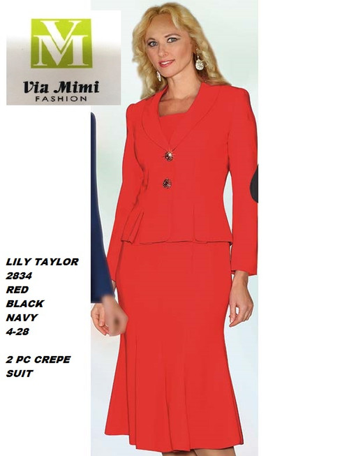 LILY & TAYLOR STYLE #2834  COLOR: BLACK , RED, NAVY   SIZE : 4-28  3 PC CREPE SUIT  FOR PRICE AND MORE IMFORMATION  PLEASE GIVE US A CALLL    WE BEAT  ALL PRICES !!!!  VIA MIMI FASHION  1333 S. SANTEE ST.  LA,CA.90015  TEL: (213)748-MIMI (6464)  FAX: (213)749-MIMI (6464)  E-Mail: mimi@viamimifashion.com  http://viamimifashion.com  https://www.facebook.com/viamimifashion    https://www.instagram.com/viamimifashion  https://twitter.com/viamimifashion.