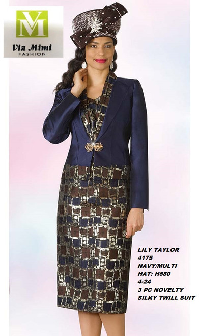 LILY & TAYLOR STYLE #4175  COLOR: NAVY/MULTI (H580)  SIZE: 4-24  3 PC NOVELTY  SILKY TWILL SUIT  FOR PRICE AND MORE IMFORMATION  PLEASE GIVE US A CALLL    WE BEAT  ALL PRICES !!!!  VIA MIMI FASHION  1333 S. SANTEE ST.  LA,CA.90015  TEL: (213)748-MIMI (6464)  FAX: (213)749-MIMI (6464)  E-Mail: mimi@viamimifashion.com  http://viamimifashion.com  https://www.facebook.com/viamimifashion    https://www.instagram.com/viamimifashion  https://twitter.com/viamimifashion.