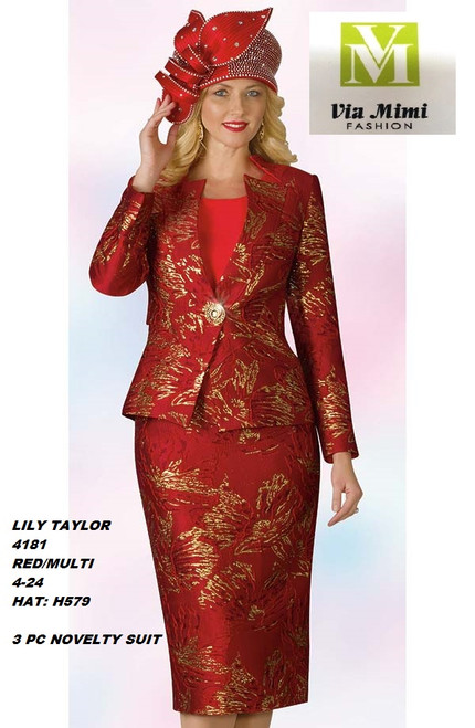 LILY & TAYLOR STYLE #4181  COLOR: RED/MULTI (H579)  SIZE: 4-24  3 PC NOVELTY  SUIT  FOR PRICE AND MORE IMFORMATION  PLEASE GIVE US A CALLL    WE BEAT  ALL PRICES !!!!  VIA MIMI FASHION  1333 S. SANTEE ST.  LA,CA.90015  TEL: (213)748-MIMI (6464)  FAX: (213)749-MIMI (6464)  E-Mail: mimi@viamimifashion.com  http://viamimifashion.com  https://www.facebook.com/viamimifashion    https://www.instagram.com/viamimifashion  https://twitter.com/viamimifashion.