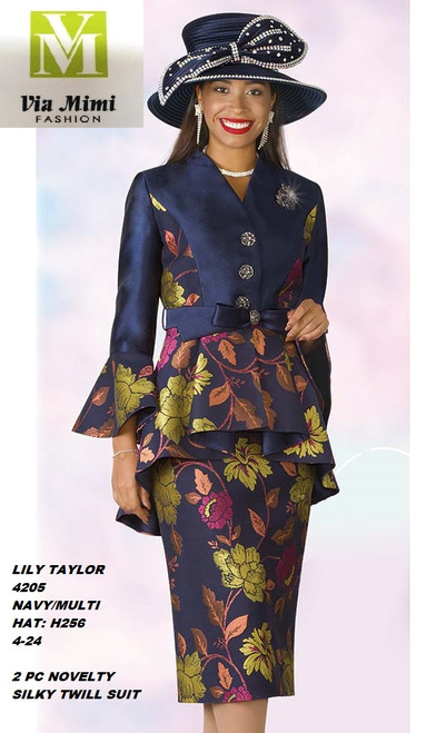 LILY & TAYLOR STYLE #4205  COLOR: NAVY/MULTI (H256)  SIZE: 4-24  2 PC SILKY TWILL  SUIT  FOR PRICE AND MORE IMFORMATION  PLEASE GIVE US A CALLL    WE BEAT  ALL PRICES !!!!  VIA MIMI FASHION  1333 S. SANTEE ST.  LA,CA.90015  TEL: (213)748-MIMI (6464)  FAX: (213)749-MIMI (6464)  E-Mail: mimi@viamimifashion.com  http://viamimifashion.com  https://www.facebook.com/viamimifashion    https://www.instagram.com/viamimifashion  https://twitter.com/viamimifashion.