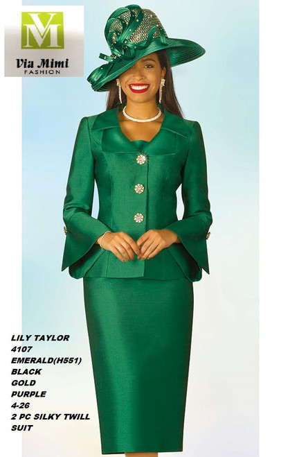 LILY & TAYLOR STYLE #4107  COLOR: EMERALD(551), BLACK, GOLD, PURPLE  SIZE: 4-26  2 PC SILKY TWILL  SUIT  FOR PRICE AND MORE IMFORMATION  PLEASE GIVE US A CALLL    WE BEAT  ALL PRICES !!!!  VIA MIMI FASHION  1333 S. SANTEE ST.  LA,CA.90015  TEL: (213)748-MIMI (6464)  FAX: (213)749-MIMI (6464)  E-Mail: mimi@viamimifashion.com  http://viamimifashion.com  https://www.facebook.com/viamimifashion    https://www.instagram.com/viamimifashion  https://twitter.com/viamimifashion.