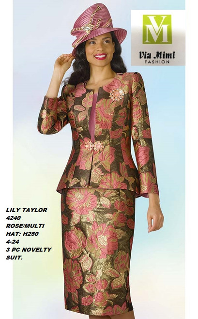 LILY & TAYLOR STYLE #4240  COLOR: ROSE/MULTI (H250)  SIZE: 4-24  3 PC NOVELTY  SUIT  FOR PRICE AND MORE IMFORMATION  PLEASE GIVE US A CALLL    WE BEAT  ALL PRICES !!!!  VIA MIMI FASHION  1333 S. SANTEE ST.  LA,CA.90015  TEL: (213)748-MIMI (6464)  FAX: (213)749-MIMI (6464)  E-Mail: mimi@viamimifashion.com  http://viamimifashion.com  https://www.facebook.com/viamimifashion    https://www.instagram.com/viamimifashion  https://twitter.com/viamimifashion.