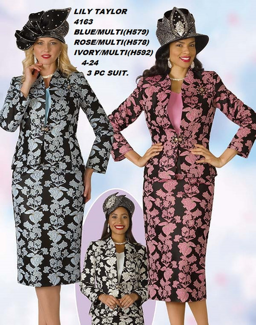 LILY & TAYLOR STYLE #4163  COLOR: BLUE/MULTI(H579), ROSE/MULTI(H578), IVORY/MULTI(H592)  SIZE: 4-24  3 PC NOVELTY  SUIT  FOR PRICE AND MORE IMFORMATION  PLEASE GIVE US A CALLL    WE BEAT  ALL PRICES !!!!  VIA MIMI FASHION  1333 S. SANTEE ST.  LA,CA.90015  TEL: (213)748-MIMI (6464)  FAX: (213)749-MIMI (6464)  E-Mail: mimi@viamimifashion.com  http://viamimifashion.com  https://www.facebook.com/viamimifashion    https://www.instagram.com/viamimifashion  https://twitter.com/viamimifashion.