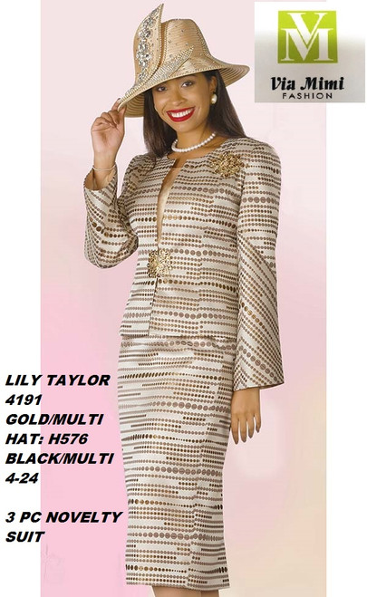 LILY & TAYLOR STYLE #4191  COLOR: GOLD MULTI (H576), BLACK/MULTI  SIZE: 4-24  3 PC NOVELTY  SUIT  FOR PRICE AND MORE IMFORMATION  PLEASE GIVE US A CALLL    WE BEAT  ALL PRICES !!!!  VIA MIMI FASHION  1333 S. SANTEE ST.  LA,CA.90015  TEL: (213)748-MIMI (6464)  FAX: (213)749-MIMI (6464)  E-Mail: mimi@viamimifashion.com  http://viamimifashion.com  https://www.facebook.com/viamimifashion    https://www.instagram.com/viamimifashion  https://twitter.com/viamimifashion.
