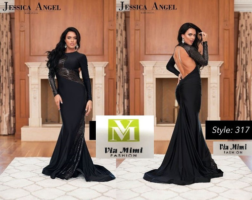 JESSICA  ANGEL COLLECTION STYLE #317!!!  LONG  DRESS/LONG SLEEVE/ OPEN BACK  SIZE: XXS- XXL  FOR PRICE AND MORE IMFORMATION  PLEASE GIVE US A CALL   WE BEAT  ALL PRICES !!!!  VIA MIMI FASHION  1333 S. SANTEE ST.  LA,CA.90015  TEL: (213)748-MIMI (6464)  FAX: (213)749-MIMI (6464)  E-Mail: mimi@viamimifashion.com  http://viamimifashion.com  https://www.facebook.com/viamimifashion    https://www.instagram.com/viamimifashion  https://twitter.com/viamimifashion