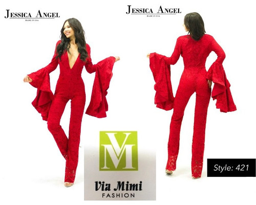 JESSICA  ANGEL COLLECTION JUMPSUIT STYLE #421!!!  SIZE: XXS- XXL  FOR PRICE AND MORE IMFORMATION  PLEASE GIVE US A CALL   WE BEAT  ALL PRICES !!!!  VIA MIMI FASHION  1333 S. SANTEE ST.  LA,CA.90015  TEL: (213)748-MIMI (6464)  FAX: (213)749-MIMI (6464)  E-Mail: mimi@viamimifashion.com  http://viamimifashion.com  https://www.facebook.com/viamimifashion    https://www.instagram.com/viamimifashion  https://twitter.com/viamimifashion