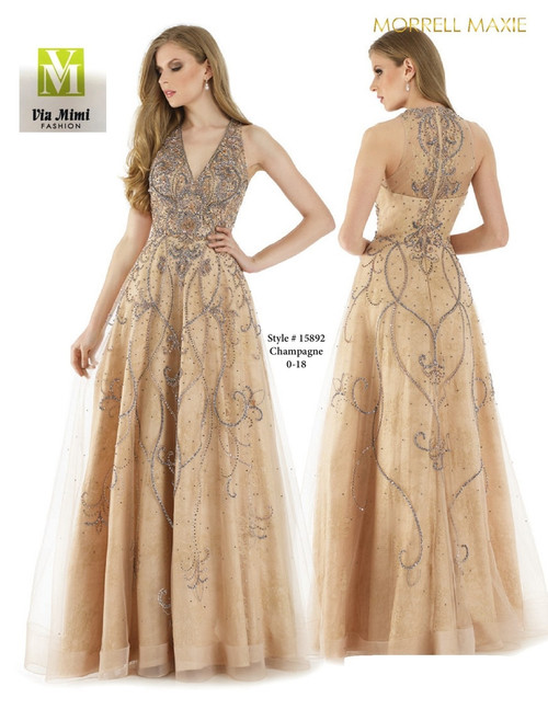 MORRELL MAXIE #15892 - COLOR: CHAMPAGNE - SIZE: 0-18