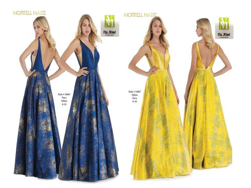 MORRELL MAXIE #16067 - COLOR: YELLOW, NAVY - SIZE: 0-18