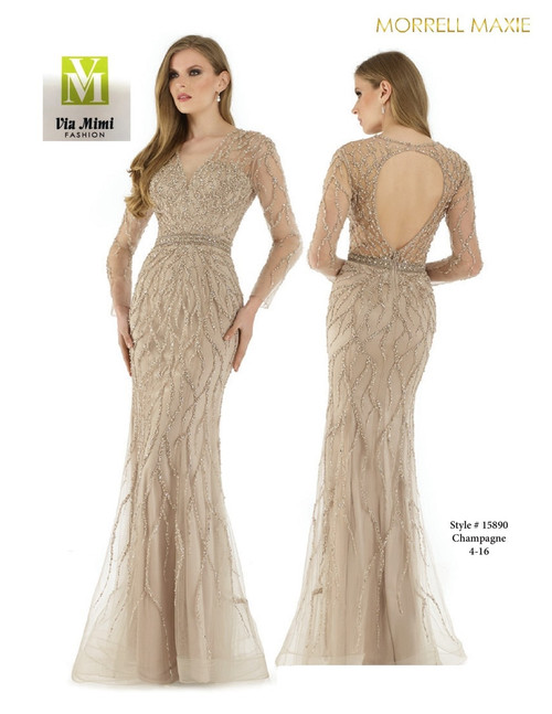 MORRELL MAXIE #15890 - COLOR: CHAMPAGNE - SIZE: 4-16