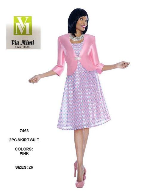 TERRAMINA - 7463 - DRESS - SIZE: 26 - COLOR: PINK