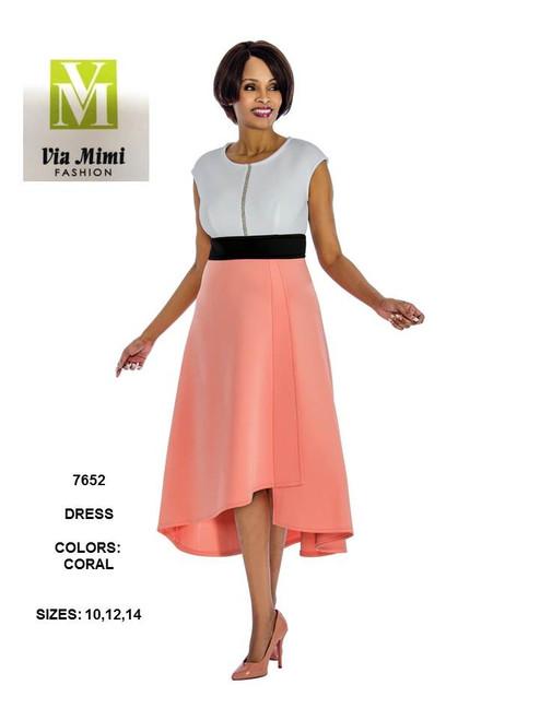 TERRAMINA - 7652 - DRESS - SIZES: 10-12-14 - COLOR: MELON