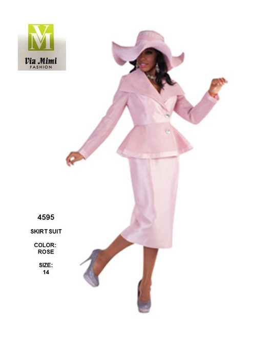TALLY TAYLOR - 4595 - SKIRT SUIT - SIZES: 14 - COLOR: ROSE