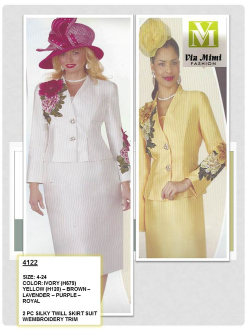 2 pc Silky Twill skirt suit