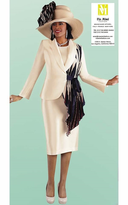 TALLY TAYLOR 4687 FALL 2019   3 PC. SKIRT SUIT COLOR: CHAMPAGNE SIZE: 8-18, 16W-26W