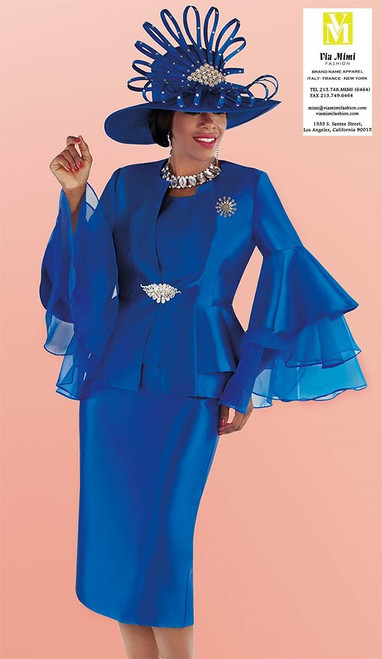 TALLY TAYLOR 4699 FALL 2019 3 PC SKIRT SUIT COLORS: ROYAL BLUE, RED, WHITE SIZE: 8-18, 16W-26W