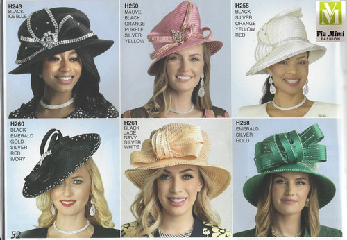 LILY & TAYLOR HATS #H243, 250, 255, 260, 261, 268