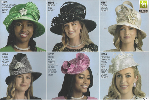 LILY & TAYLOR HATS #H695, 696, 697, 698, 723, 724