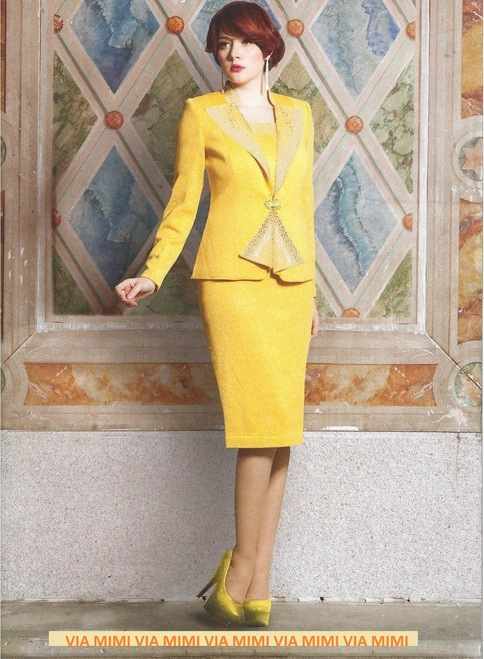 KNY 37507 SUNSHINE/LUREX KNY 37507  COLOR : IVORY ...ONLY SIZE 14  AVAILABLE.  COLOR: YELLOW  ...ONLY SIZE 16 AVAILABLE.  2 PC. KNIT SUIT.  PLEASE CALL US FOR MORE IMFORMATION AND PRICE !   VIA MIMI FASHION   TEL: (213)748-MIMI (6464)   FAX: (213)749-MIMI (6464)   E-Mail: mimi@viamimifashion.com