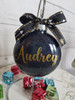 Personalized Glitter Christmas Ornament - Custom Name & gift box