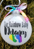Rainbow Baby Christmas  Ornament - Custom Name & gift box