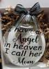 Mom Memorial Gift - Christmas Angel in Heaven I call her Mom, Parent Loss Gift In Memory of  Sympathy