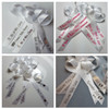 white personalized ribbons for memorial service funeral or many other occasions