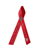 red  personalized memorial service funeral ribbon pins