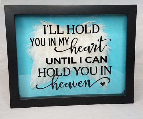 Memorial Shadow Box  with angel wings
