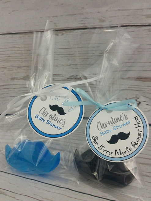 Mustache Soap Party Favors for baby shower