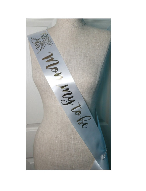 Twinkle Little Star Baby Shower Sash for mommy to be