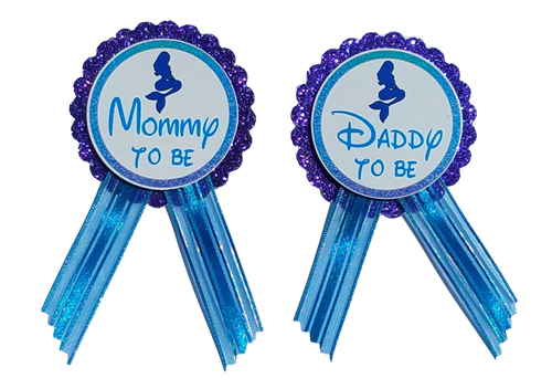 Mermaid Baby Shower Pin