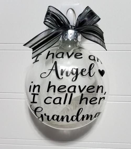 Grandma Memorial Gift - Christmas Angel in Heaven I call her Grandma, Parent Loss Gift In Memory of  Sympathy