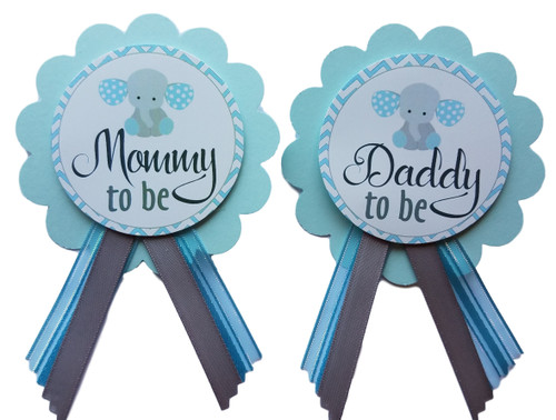 Elephant Baby Shower Pin
