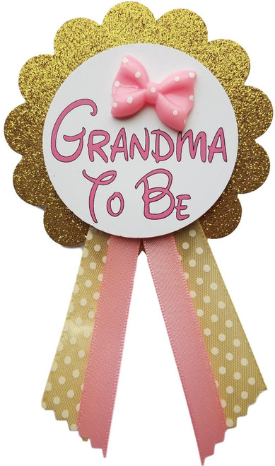 Personalized Princess Baby Shower Pin