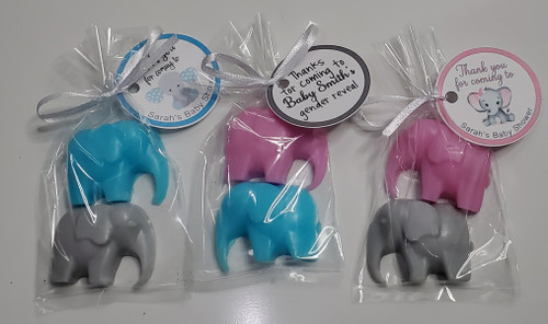 Safari Elephant Baby Shower Favors
