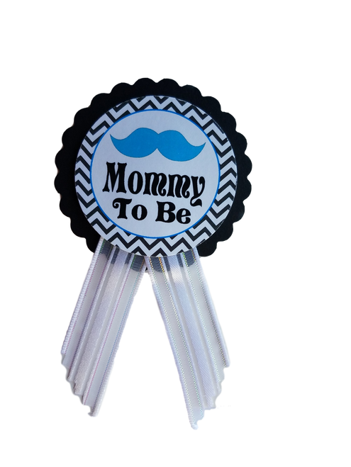 Mustache Lil Man Baby Shower Pin