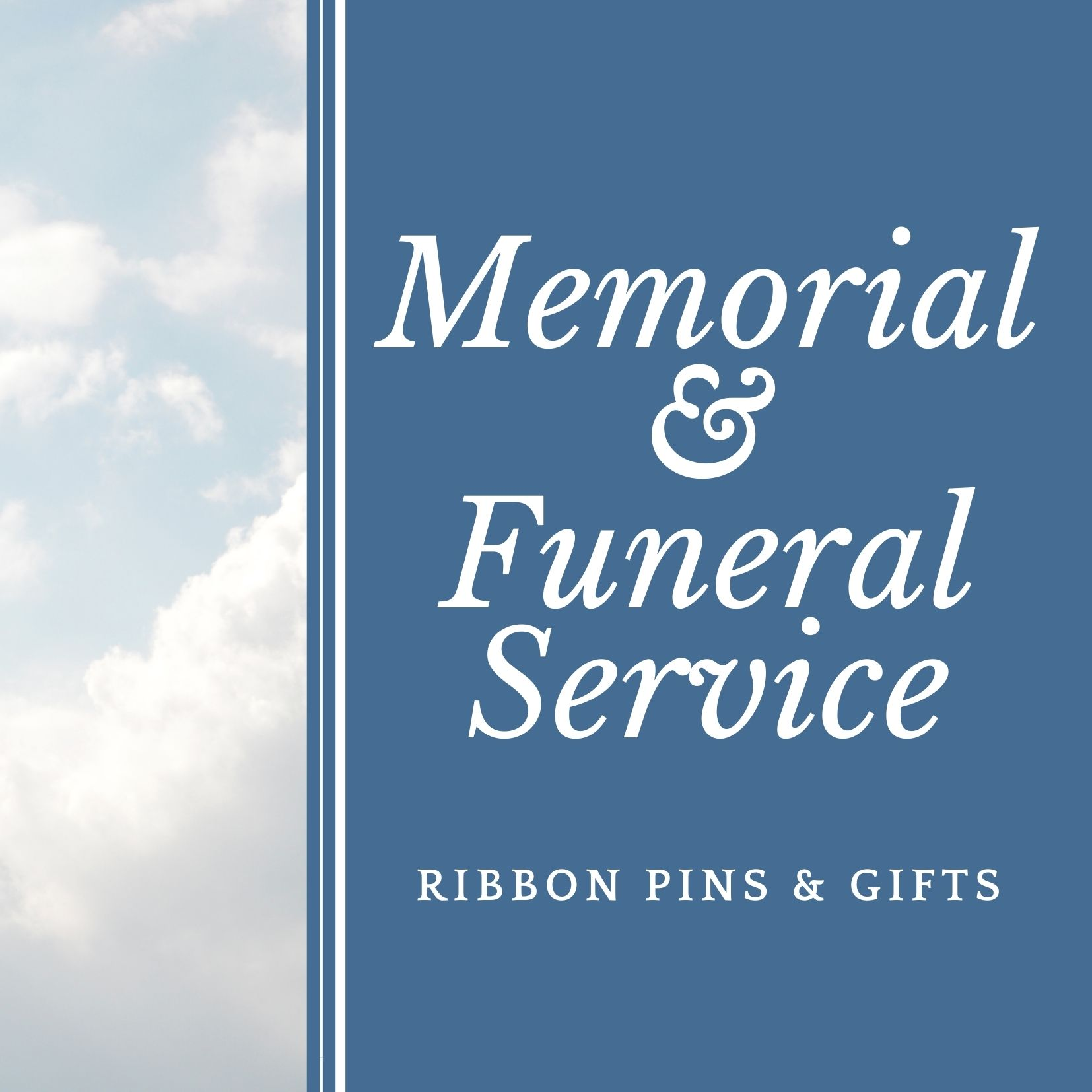 memorial service funeral in loving memory ribbon pins personalized gifts